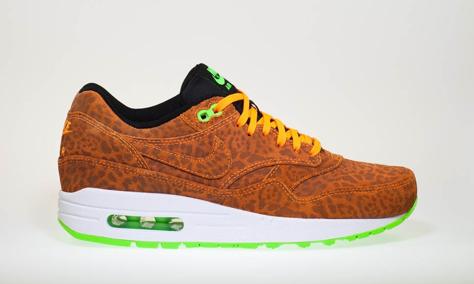 Nike Air Max 1 FB Orange Leopard Men's Casual Running Shoe