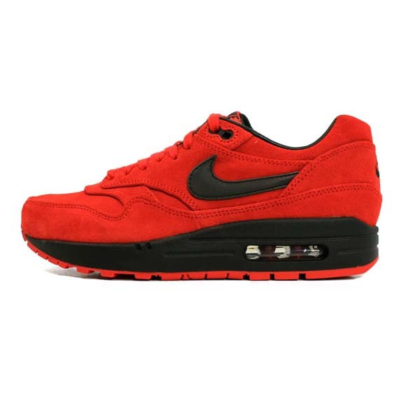 Nike Air Max 1 Premium Pimento Red Black Men's Casual Running Shoe