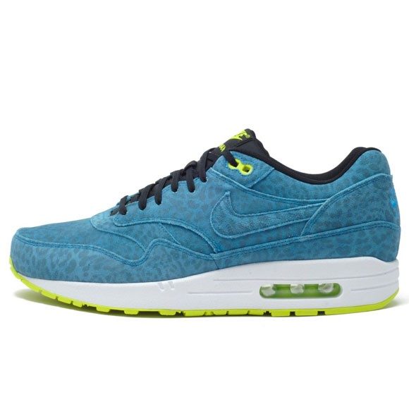 Nike Air Max 1 FB Blue Leopard Men's Casual Running Shoe
