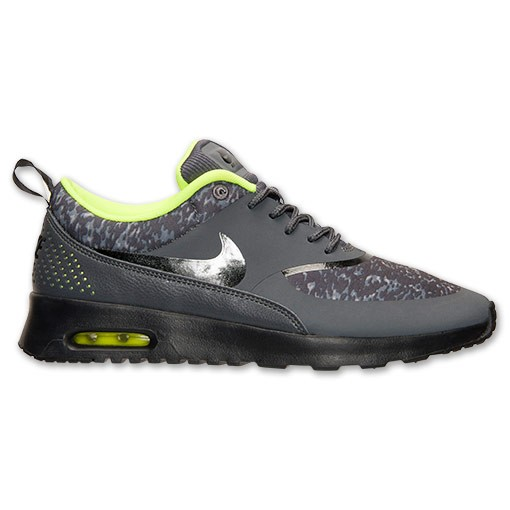 Nike WMNS Air Max Thea Print 599408 006 Dark Grey Black Volt Women's Shoe