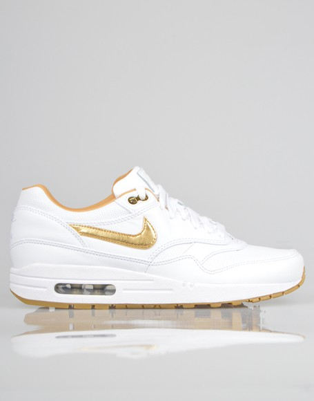 Nike Air Max 1 FB Woven Gold White Men's Casual Running Shoe