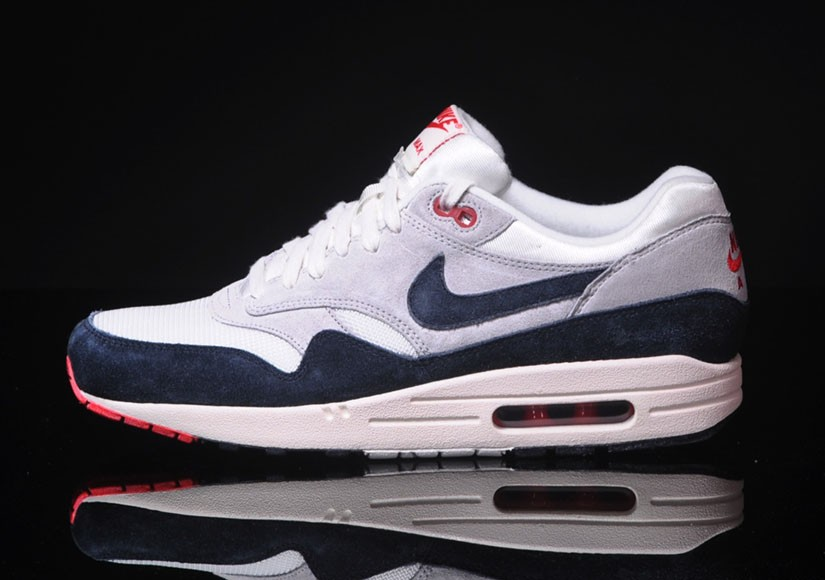 Nike Air Max 1 OG Navy Red White Mens Running Shoes