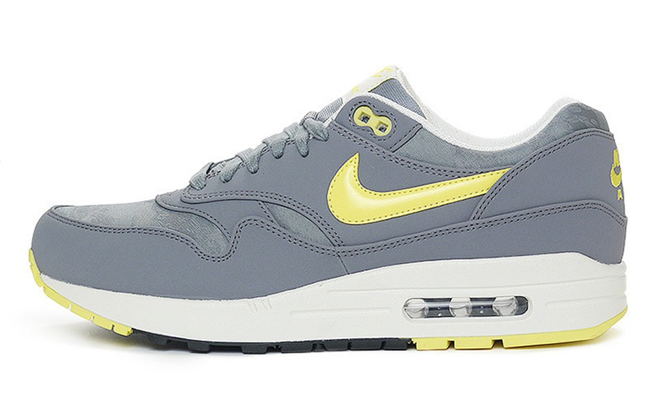 Nike Air Max 1 Premium Cool Grey Sonic Yellow Men's Casual Running Shoe