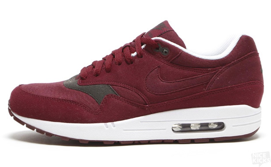 Nike Air Max 1 Team Red Velvet Brown Men's Shoe