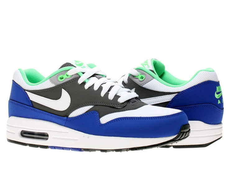 Nike Air Max 1 Essential Hyper Blue Slate Grey Minty Green White Men's Shoe