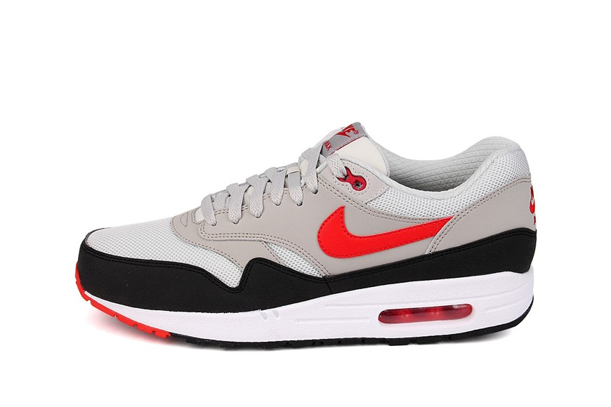Nike Air Max 1 Essential Chilling Red White Pale Grey And Dark Grey Men's Shoe
