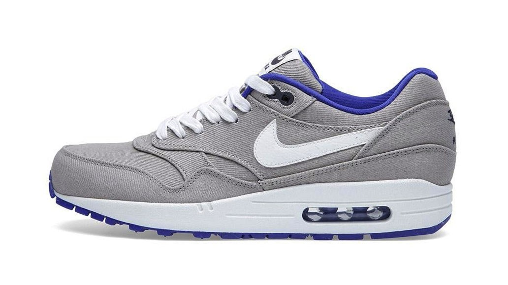 Nike Air Max 1 Premium Denim Classic Stone Sail Hyper Blue Anthracite White Men's Casual Running Shoe