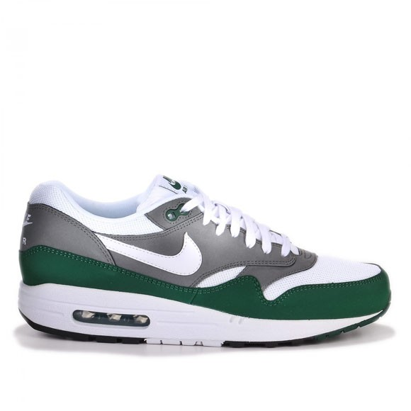 Nike Air Max 1 Essential White Mercury Grey Gorge Green Men's Shoe
