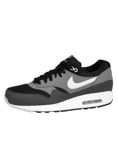 Nike Air Max 1 Essential Black Geyser Gray Mens Running Shoes