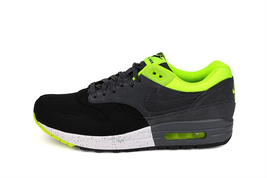 Nike Air Max 1 Premium Black Anthracite Volt Men's Casual Running Shoe