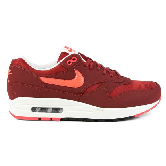 Nike Air Max 1 Premium Team Red Atomic Red Camouflage Men's Casual Running Shoe