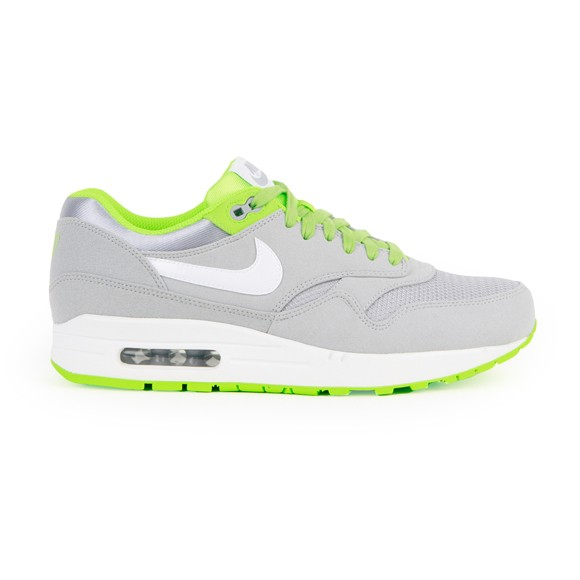 Nike Air Max 1 Premium Wolf Gray Flash Lime Men's Casual Running Shoe