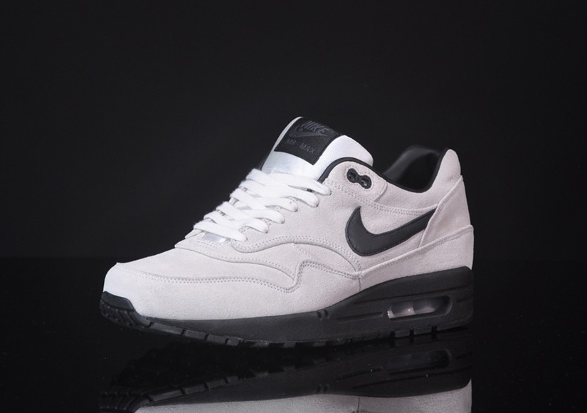 Nike Air Max 1 Premium Summit White Black Men's Casual Running Shoe