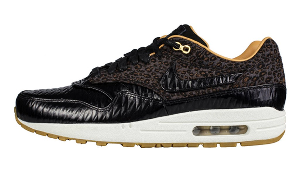 Nike Air Max 1 FB Woven Black Leopard Men's Casual Running Shoe