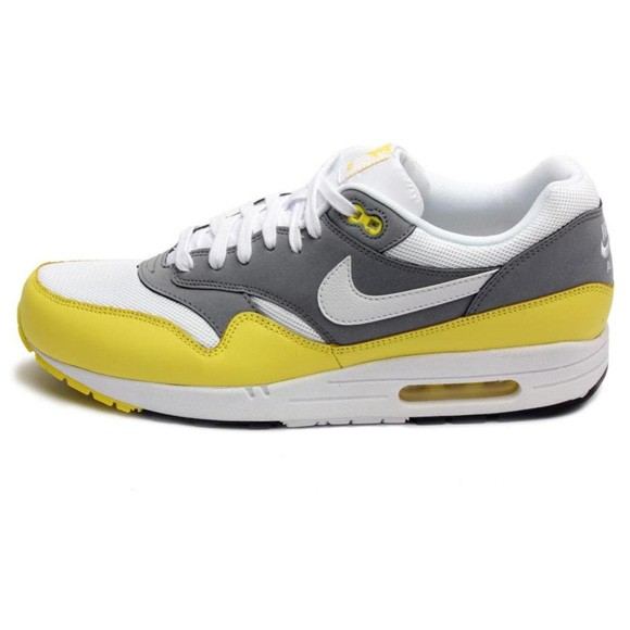 Nike Air Max 1 Essential Yellow Cool Grey Mens Running Shoes