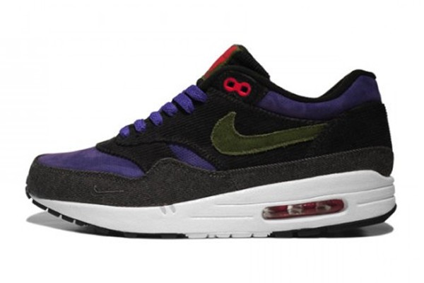 Nike Air Max 1 Patta Corduroy Purple Green Navy Men's Shoe