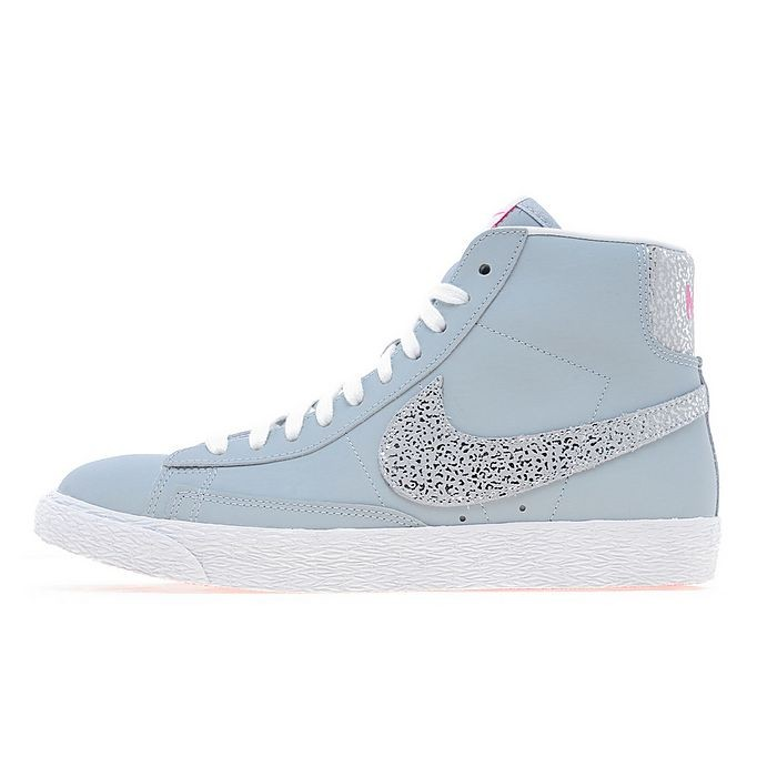 Nike WMNS Blazer Mid Glitter Magnet Grey Hyper Pink Womens High Top Sneakers