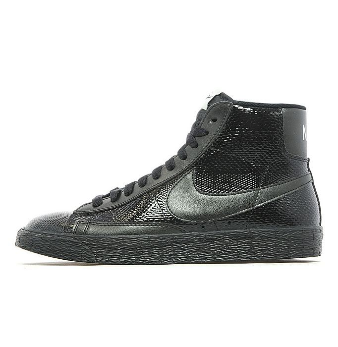 Nike WMNS Blazer Mid Leather Crocodile Skin Print Black Silver Women's Shoe