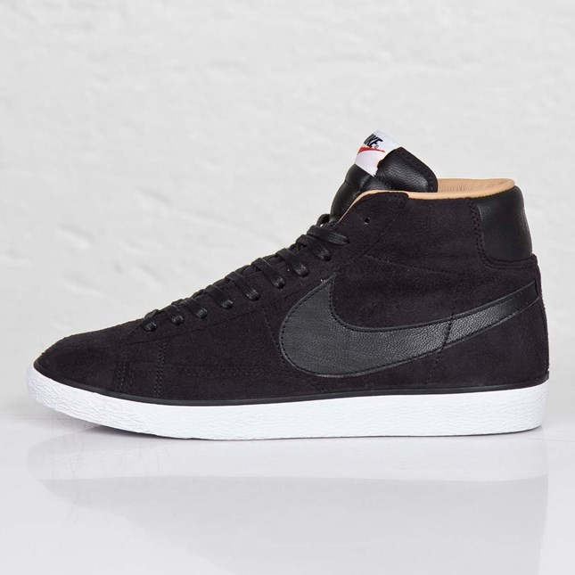 Nike Blazer High Sp Tonal Suede Pack 709659-001 Dark Brown Black White Beige Mens Laced Trainers