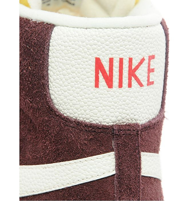 Nike WMNS Blazer Mid Premium Suede Burgundy Sail Womens High Top Sneakers
