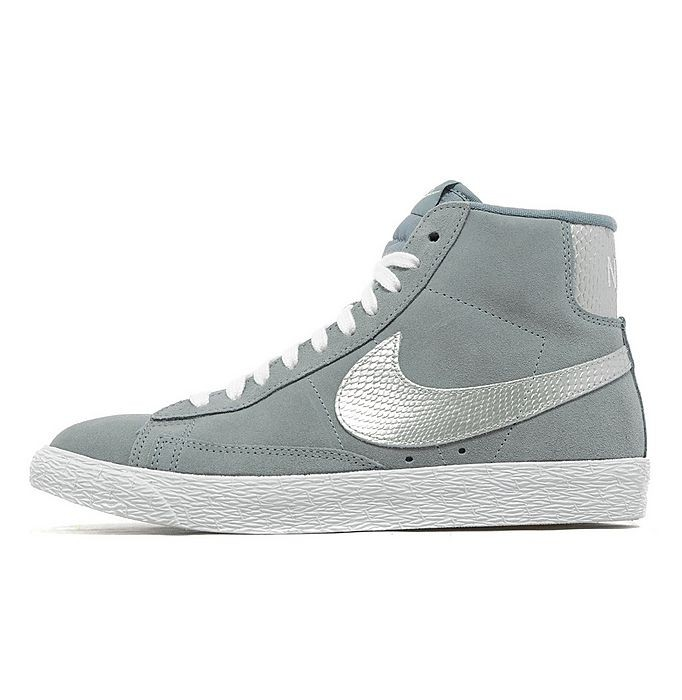 Nike WMNS Blazer Mid suede Snake Print Glitter Grey Silver Womens High Top Sneakers