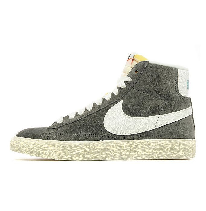Nike WMNS Blazer Mid Premium Suede Ash Sail Womens High Top Sneakers