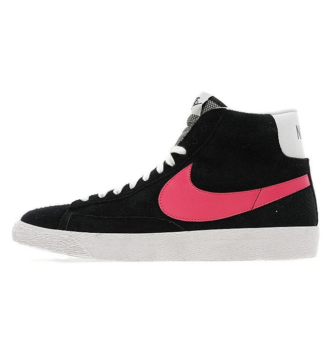 Nike WMNS Sportswear Blazer Mid Suede Black Pink White Womens High Top Sneakers