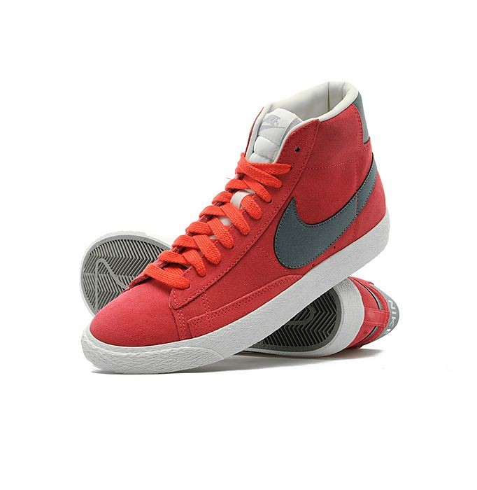 Nike WMNS Blazer Mid Suede Red Anthracite Sail Womens High Top Sneakers