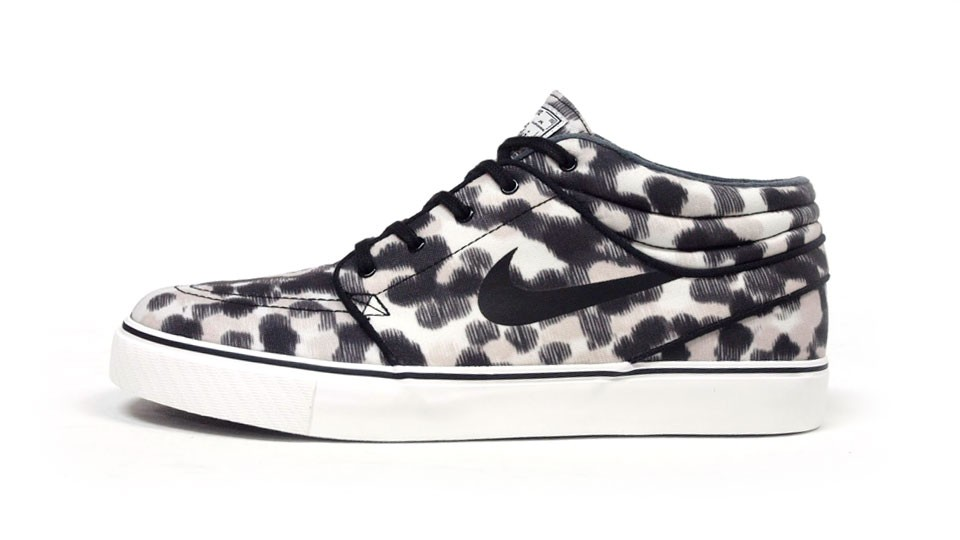 Nike SB Zoom Stefan Janoski Mid Black Grey White Men's Skateboarding Shoes