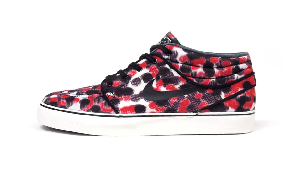 Nike SB Zoom Stefan Janoski Mid Black Red White Men's Skateboarding Shoes