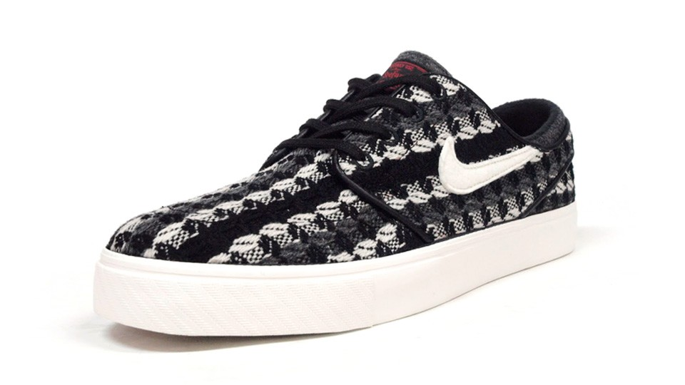 Nike SB Zoom Stefan Janoski Low Warmth Grey White Black Red Men's Skateboarding Shoes