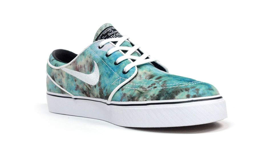 Nike SB Zoom Stefan Janoski Low 678472-317 Emerald Green White Black Men's Skateboarding Shoes