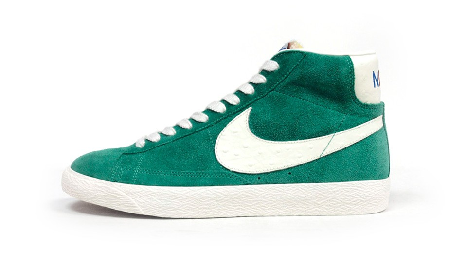 Nike Blazer Mid Premium Vintage QS Rainbow Pack 638322-300 Emerald Green White Multicolor Sneakers
