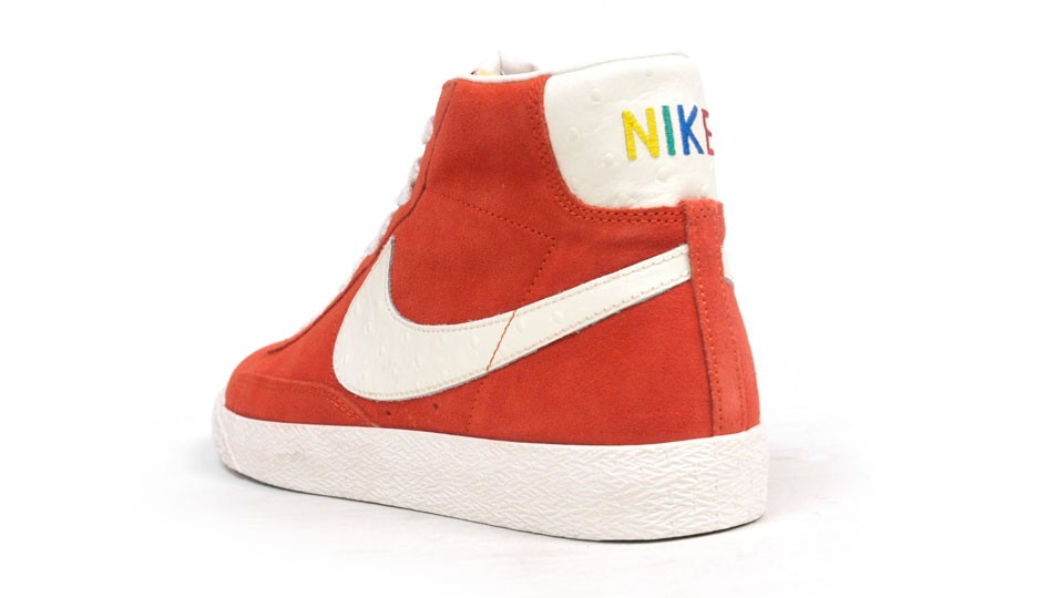Nike Blazer Mid Premium Vintage QS Rainbow Pack 638322-800 Orange White Multicolor Sneakers