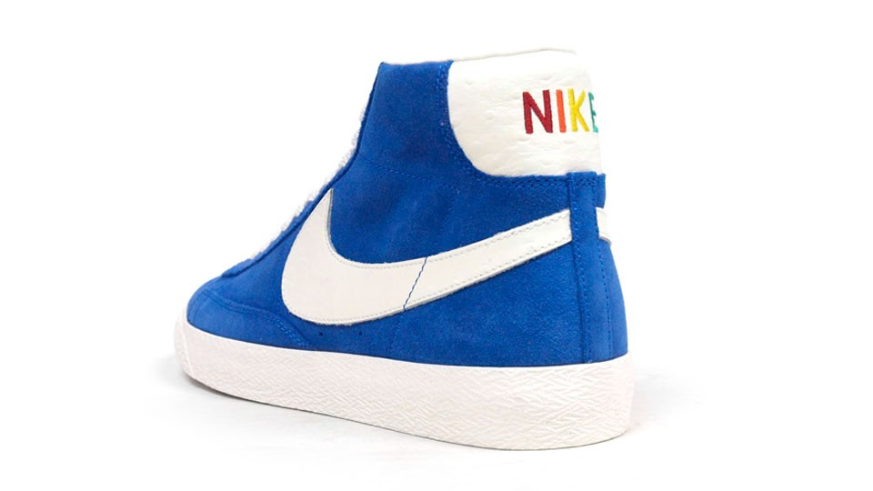 Nike Blazer Mid Premium Vintage QS Rainbow Pack 638322-401 Blue White Multicolor Sneakers