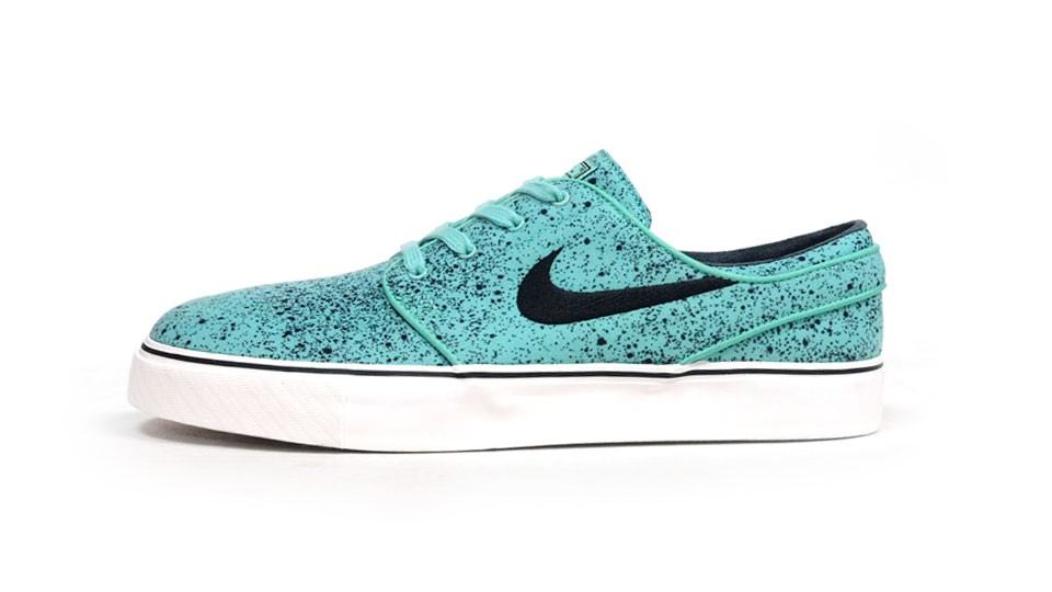 Nike SB Zoom Stefan Janoski Low Premium 375361-302 Emerald Green Black Men's Skateboarding Shoes