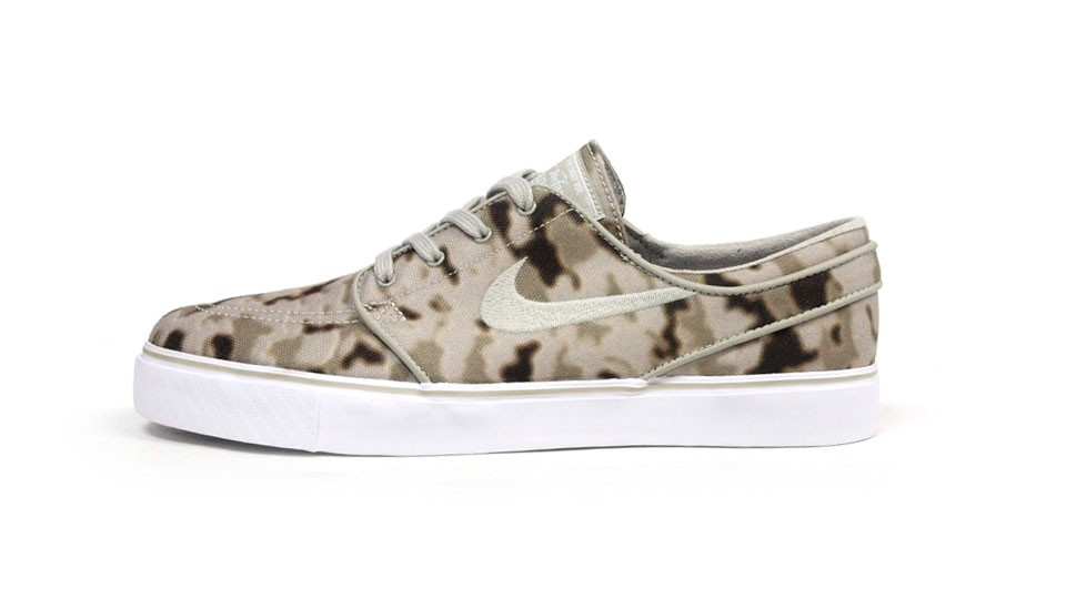 Nike SB Zoom Stefan Janoski Low Camo 333824-207 Beige White Men's Skateboarding Shoes