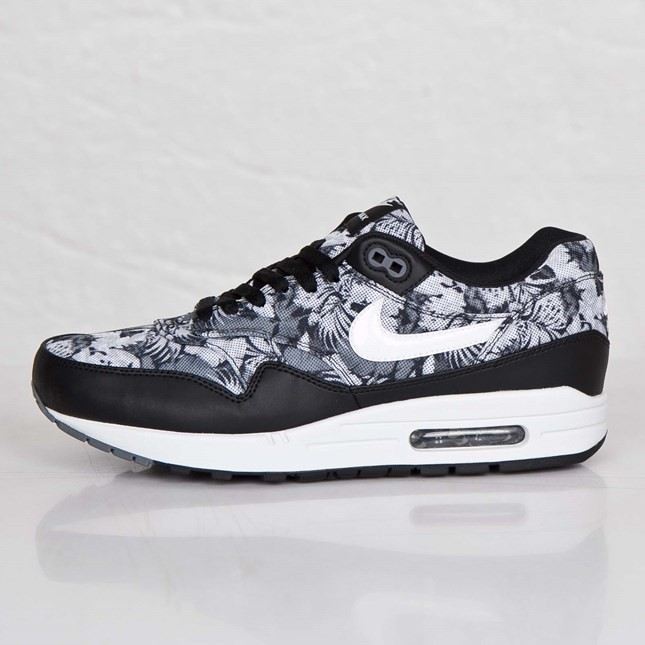 Nike Air Max 1 GPX Floral/Tropical 684174-001 Black White Dark Grey Men's Shoe