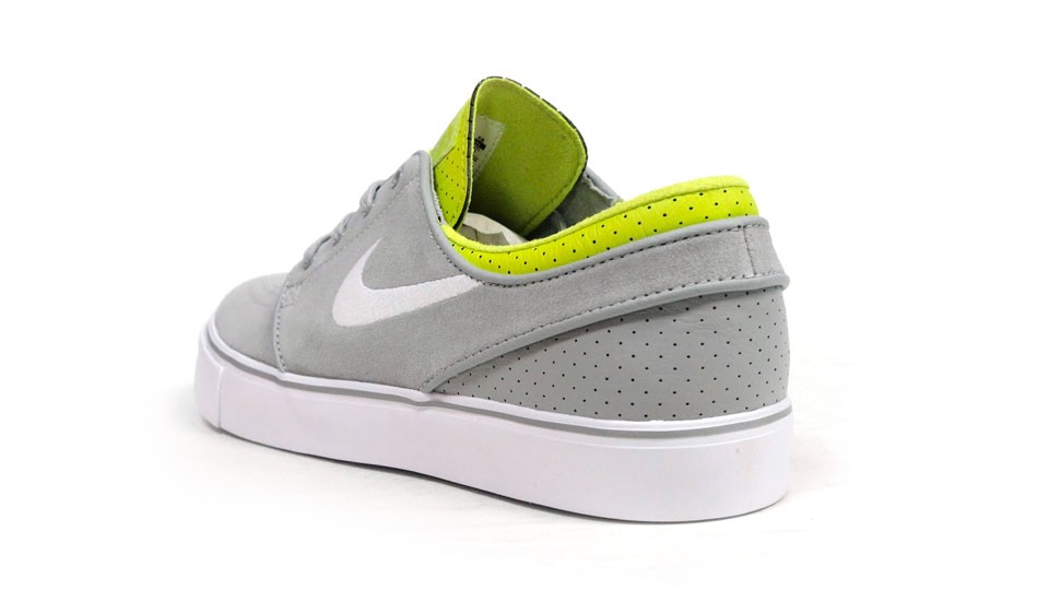 Nike SB Zoom Stefan Janoski Low 333824-025 Grey Neon Yellow White Men's Skateboarding Shoes