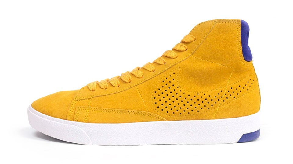 Nike Blazer Lux Trainers 599464-700 Yellow Purple White