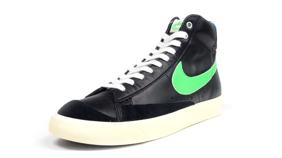 Nike Blazer Mid 77 Premium Vintage Zigzag 537327-002 Black Green Multicolor Men's Shoe