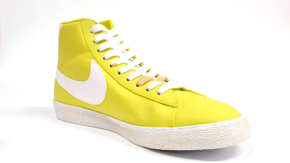 Nike WMNS Blazer High Vintage Canvas 375722-300 Yellow White Womens Laced Trainers