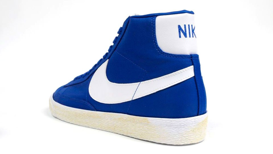 Nike WMNS Blazer High Vintage Canvas 375722-400 Blue White Womens Laced Trainers