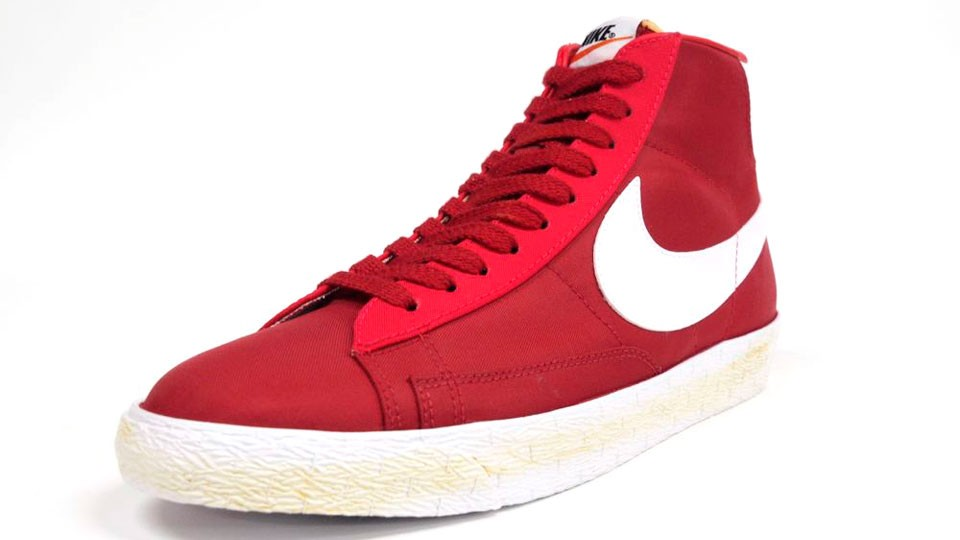 Nike Blazer High Vintage Canvas 375722-600 Red White Mens Laced Trainers ...