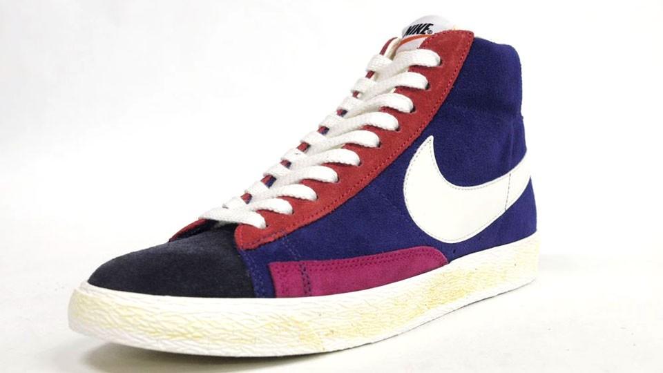Nike Blazer High Suede Vintage QS 508220-010 Purple Pink Orange Navy Yellow White Mens Laced Trainers