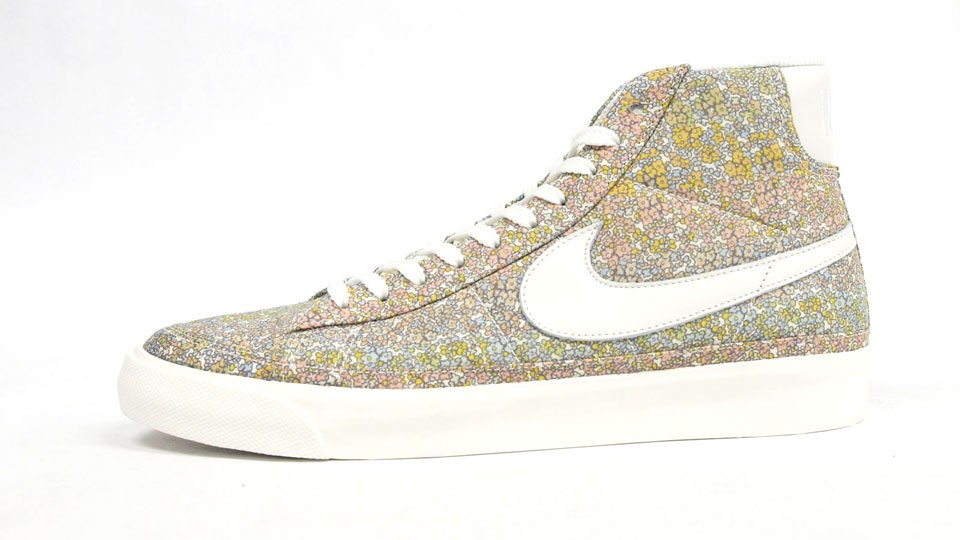 Nike WMNS Blazer Mid Premium 07 Liberty Fabric Pack 403729-103 Beige White Women's Sneakers