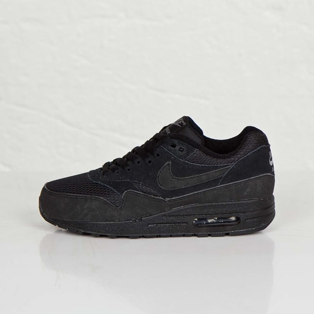 Nike WMNS Air Max 1 Essential 599820-011 Black Cool Grey Ladies Fashion Trainers