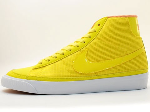 Nike WMNS Blazer Mid 09 375573-771 Yellow Orange White Womens Shoes