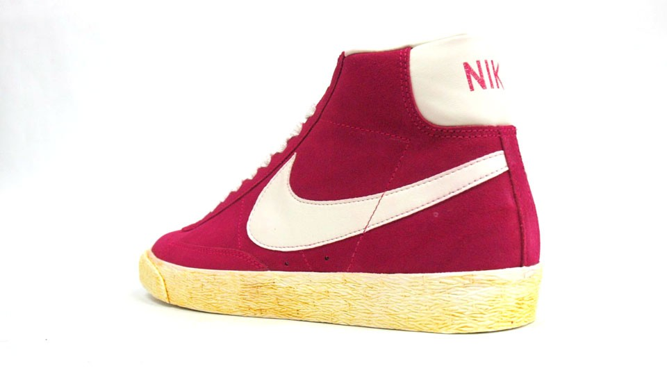 ... Nike WMNS Blazer High Suede Vintage 344344-602 Pink Force White Womens  Laced Trainers ...