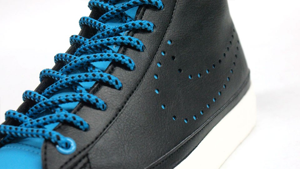 Nike Blazer Mid 09 Perforated Swoosh 371761-012 Black Blue Mens Trainers